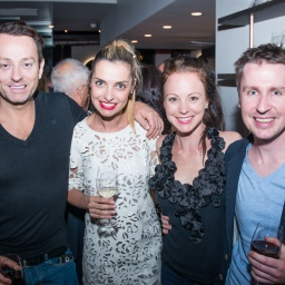 Mike Goldman-Courtney Piaud-Sarah Squire-Ben Clayton. Photo courtesy of Indulge Magazine's Adam Bouska.