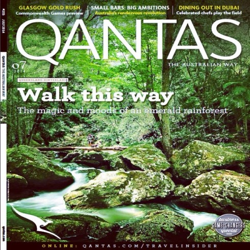 Qantas July 2014 cover